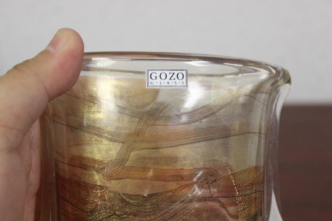 A Signed Gozo Pop Art Glass - 7