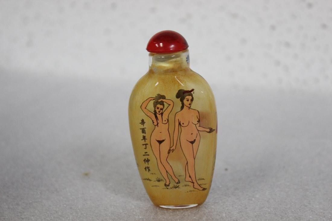 A Chinese Glass nude Snuff Bottle - 2