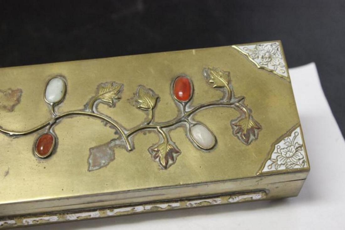 A Vintage/Antique Chinese Jade, Carneillian Enamel - 2