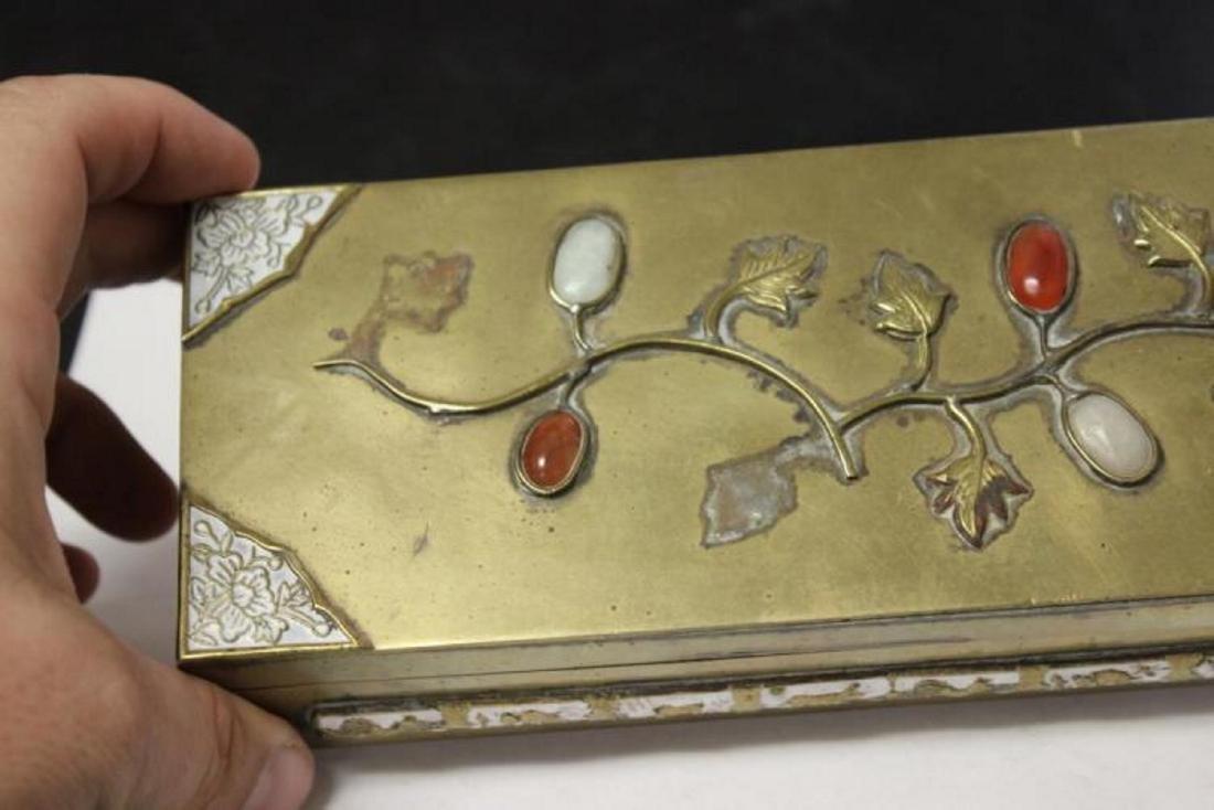A Vintage/Antique Chinese Jade, Carneillian Enamel - 3