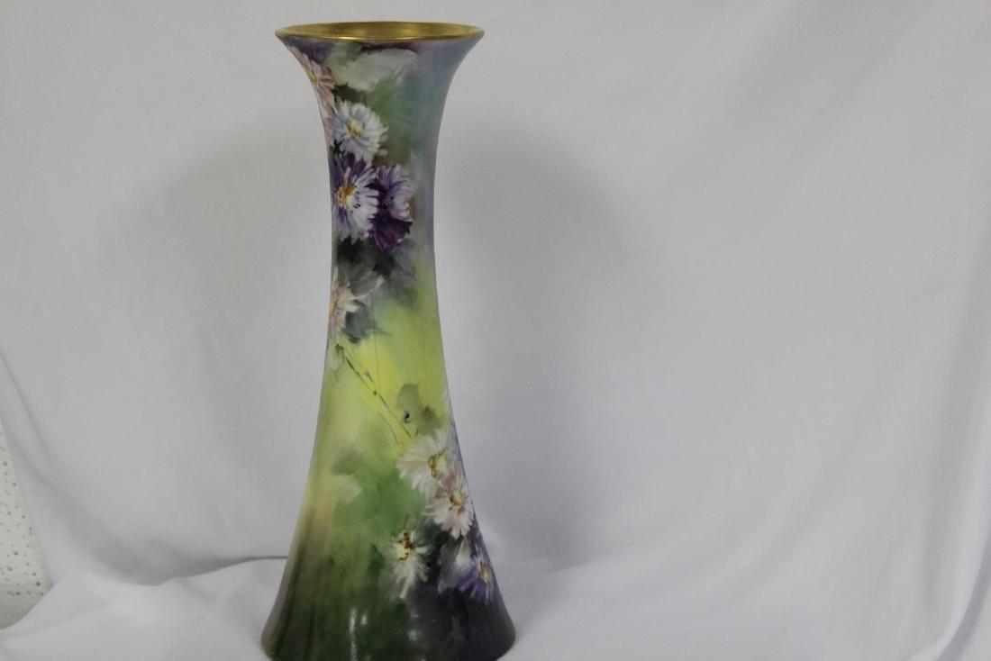 A Handpainted Trumpet Vase