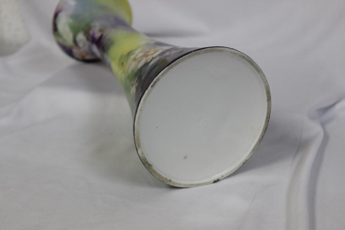A Handpainted Trumpet Vase - 7