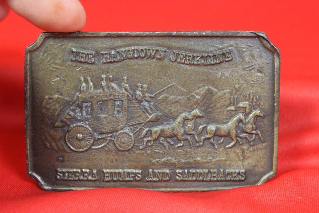 A Vintage Brass Belt Buckle