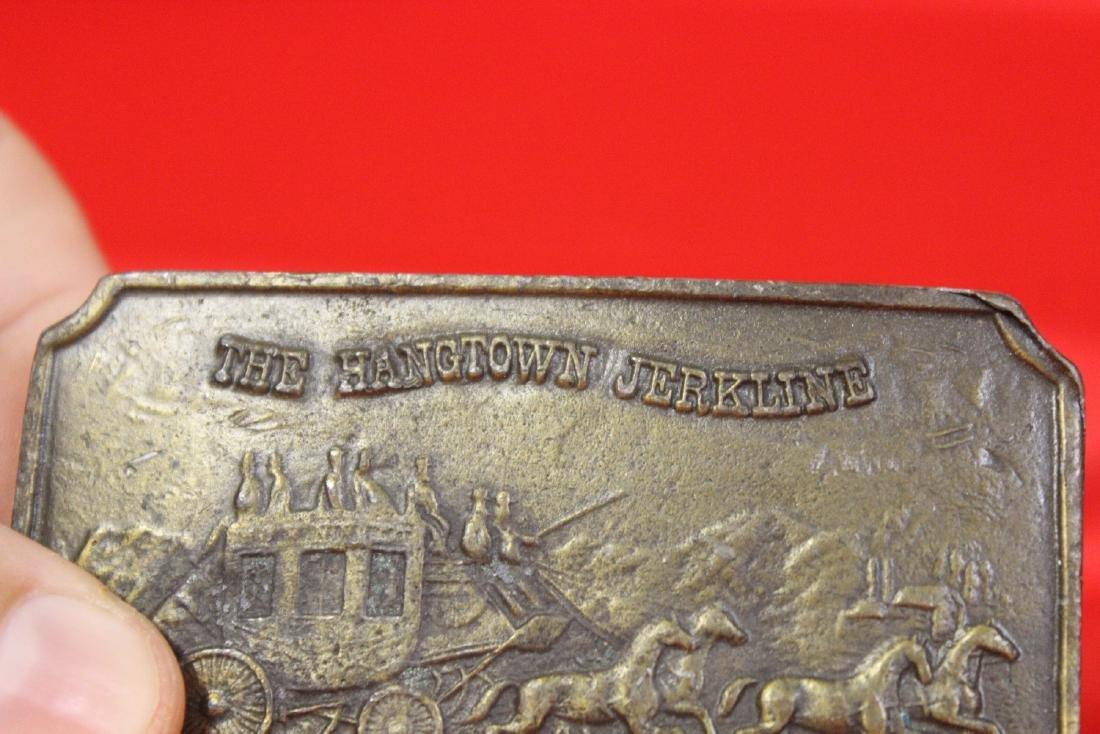 A Vintage Brass Belt Buckle - 2
