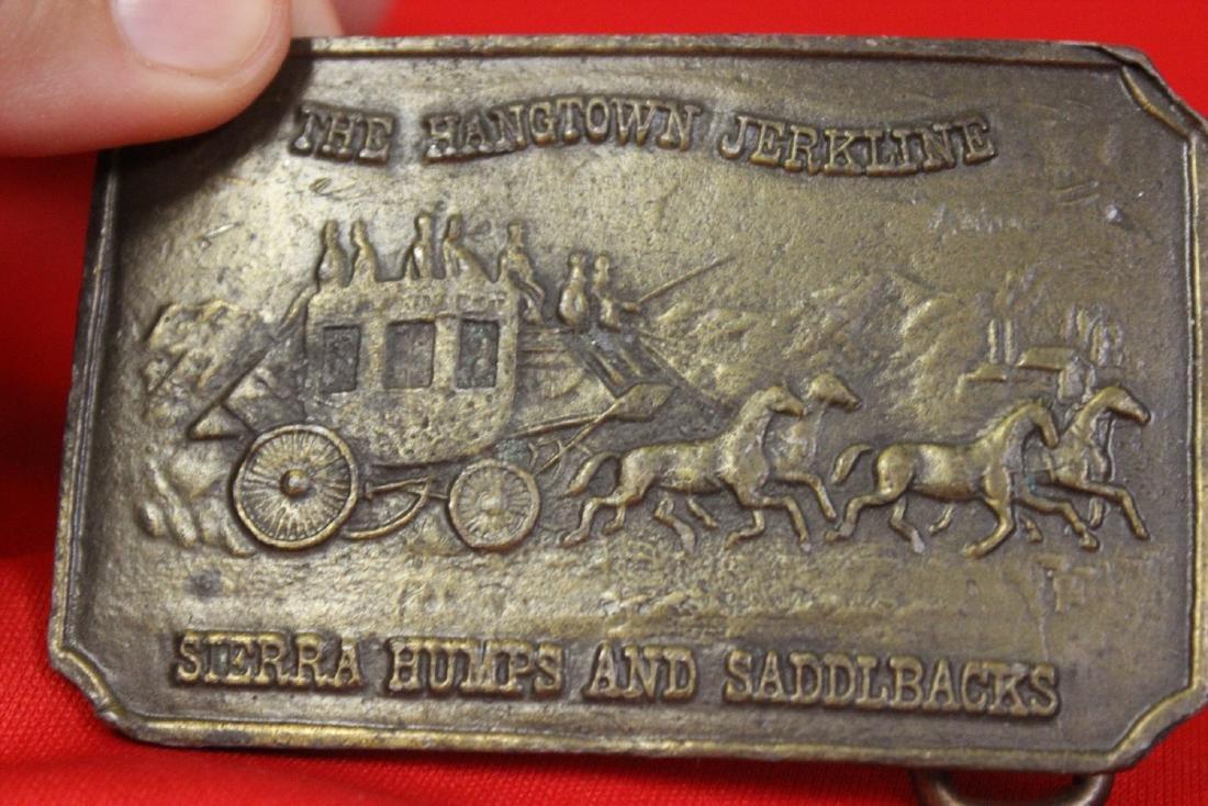 A Vintage Brass Belt Buckle - 3
