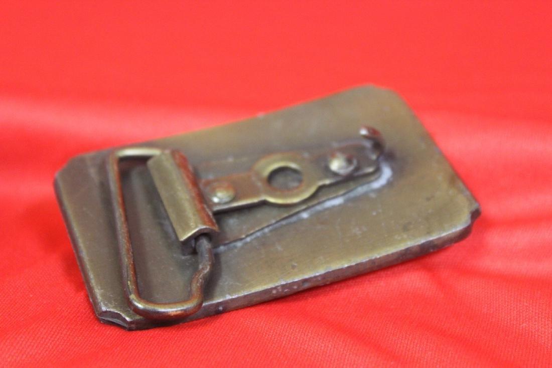 A Vintage Brass Belt Buckle - 4