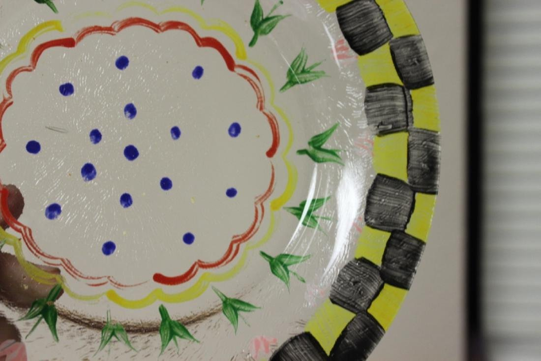 A Hand Painted Plate - 4