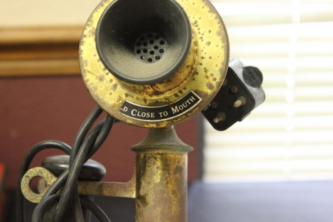 A Vintage Candle Stick Phone - 5
