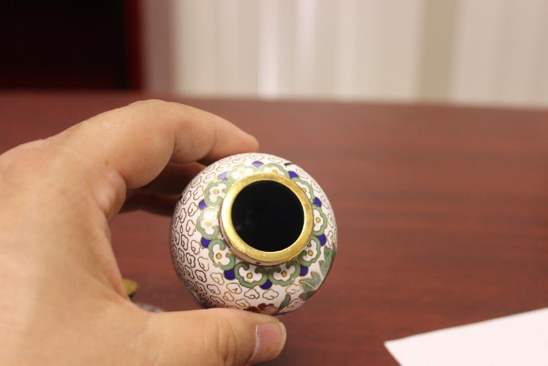 A Cloisonne Jar - 8