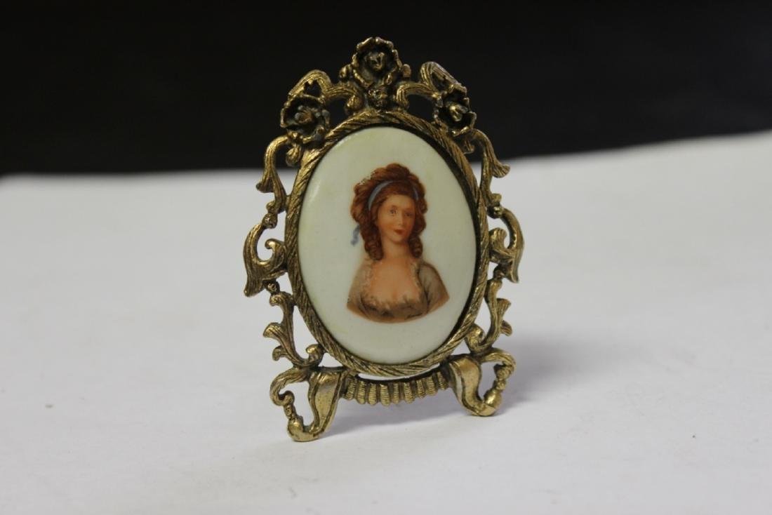 A Miniature Porcelain on Easel