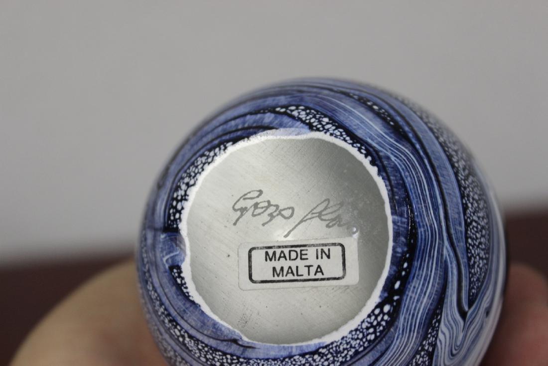 A Signed Gozo Art Glass Parfume Bottle - 5
