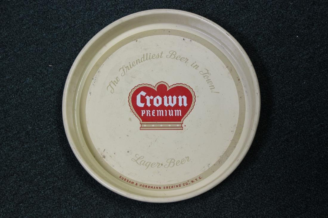 A Crown Premium Beer Tray