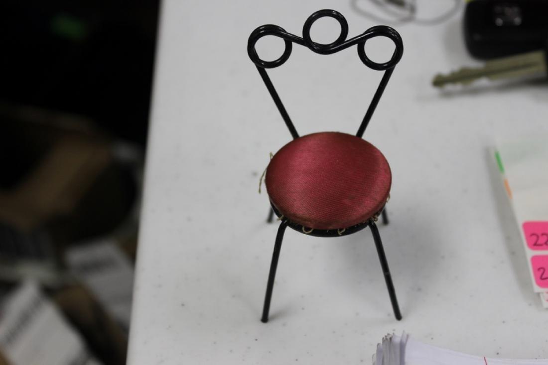 A Miniature Doll House Chair - 2