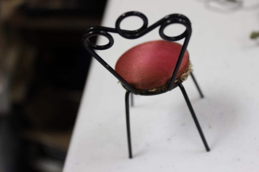 A Miniature Doll House Chair - 6