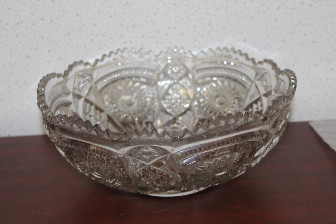 A Large Press Glass Bowl