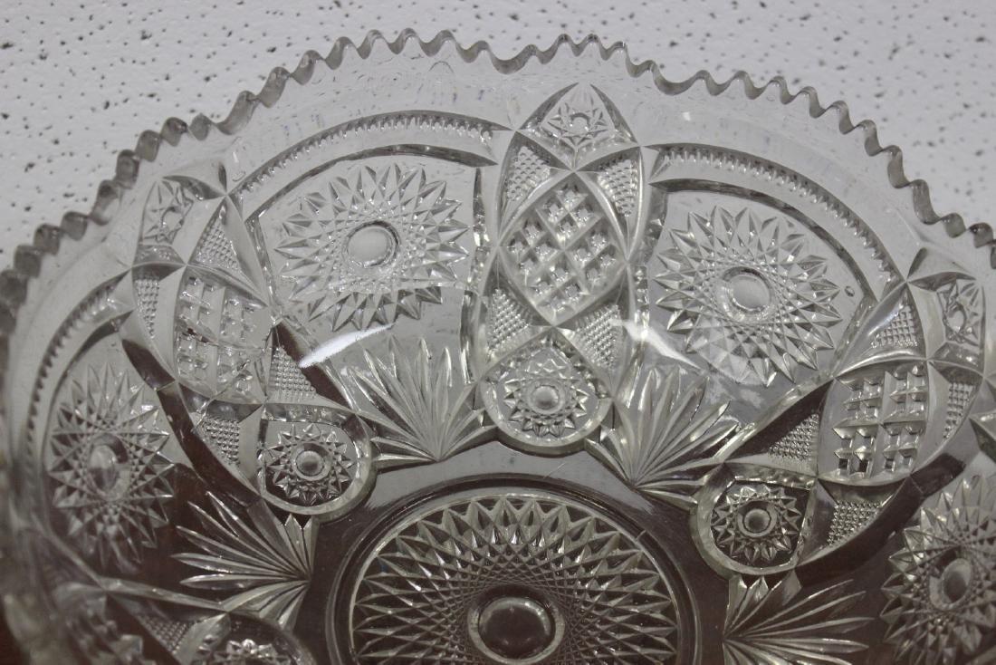 A Large Press Glass Bowl - 2