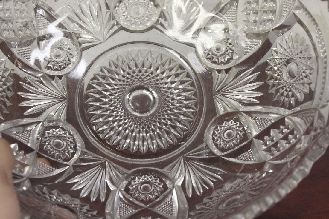 A Large Press Glass Bowl - 3