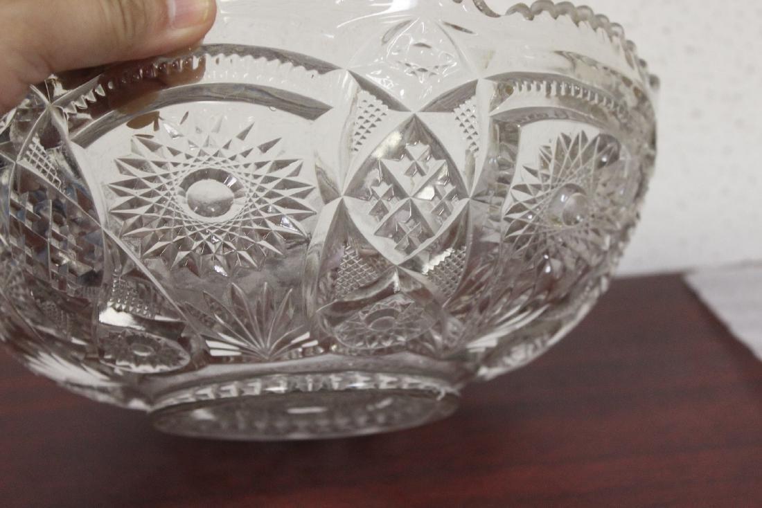 A Large Press Glass Bowl - 4