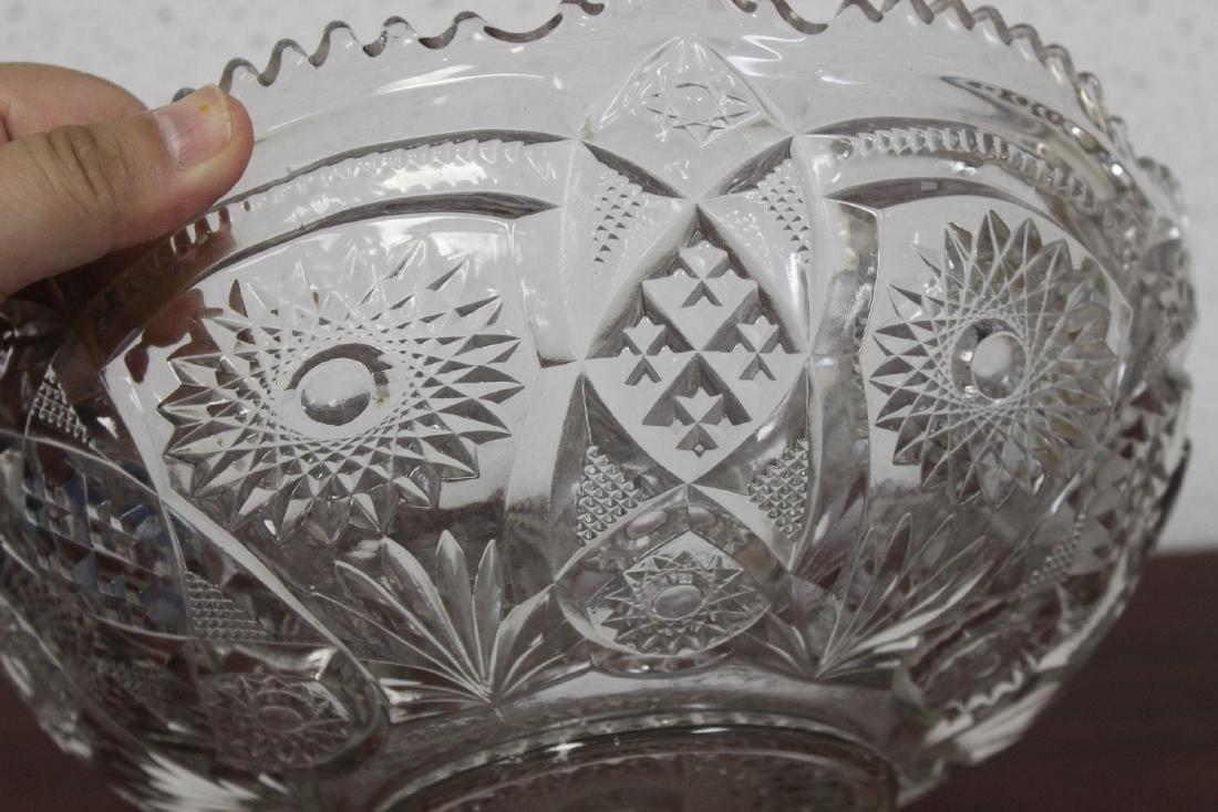 A Large Press Glass Bowl - 5