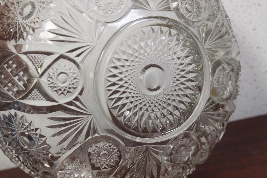 A Large Press Glass Bowl - 6