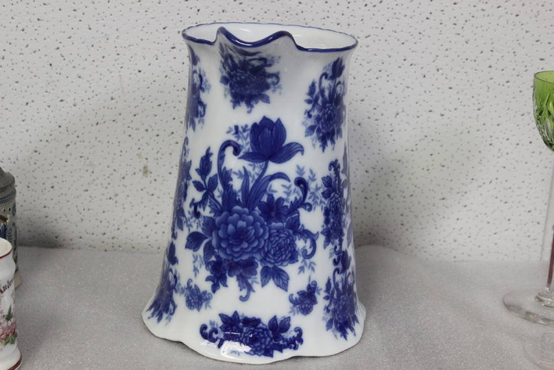 A Large Blue and White Pitcher - 2