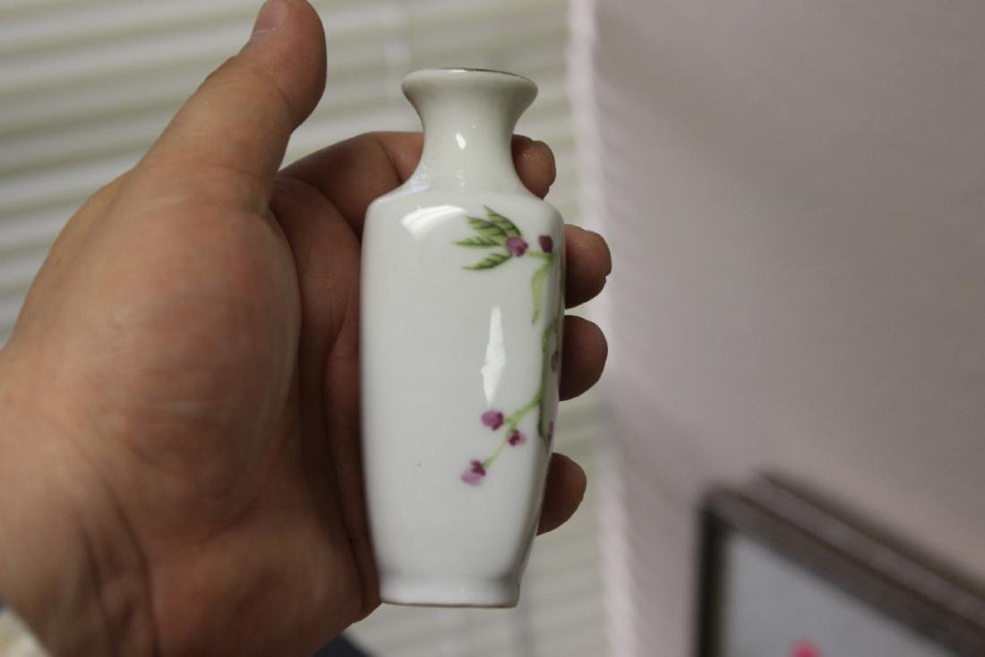 A Chinese/Asian Miniature Porcelain Rectangular Form - 4