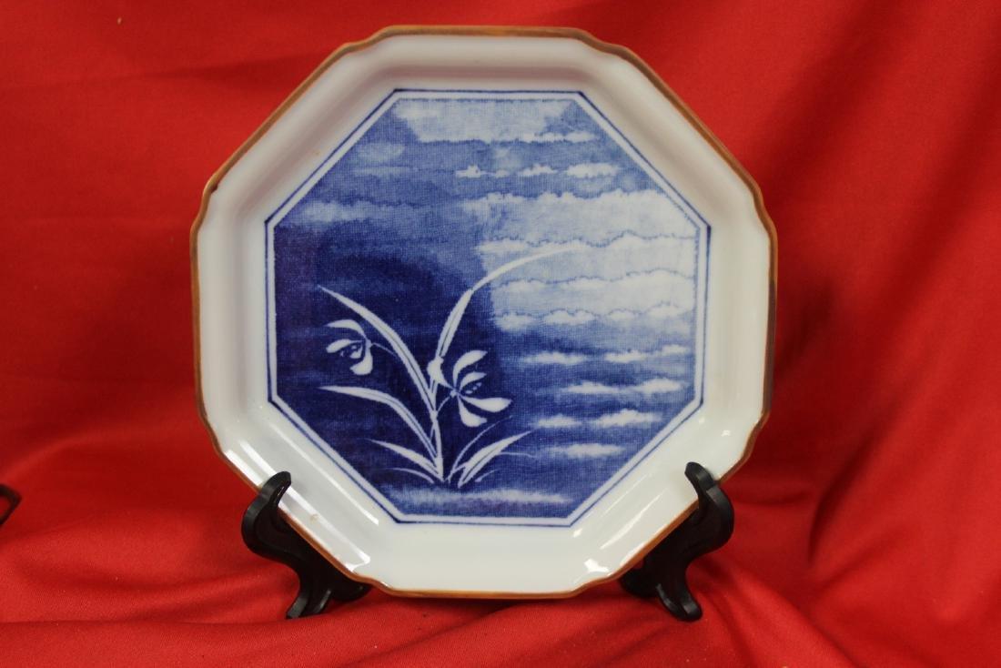 An Oriental  Octagon Plate
