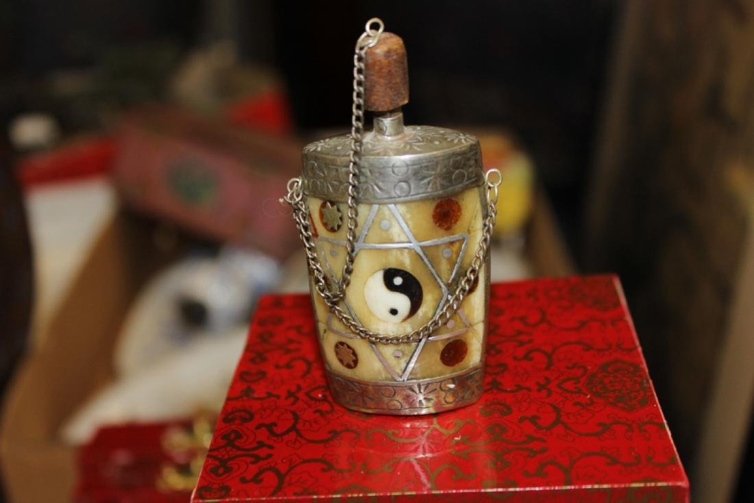 A Vintage Silver Plated Snuff Bottle - 2