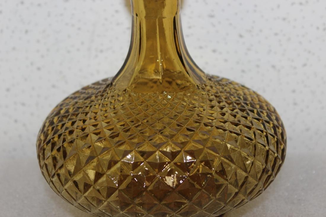 An Italian Amber Glass Decanter - 3