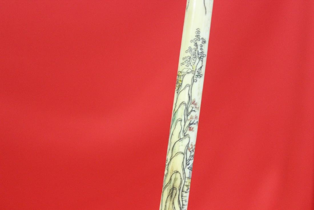 A Nicely Carved Chinese Cigarette Holder - 2