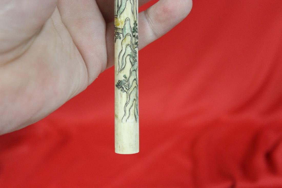 A Nicely Carved Chinese Cigarette Holder - 6