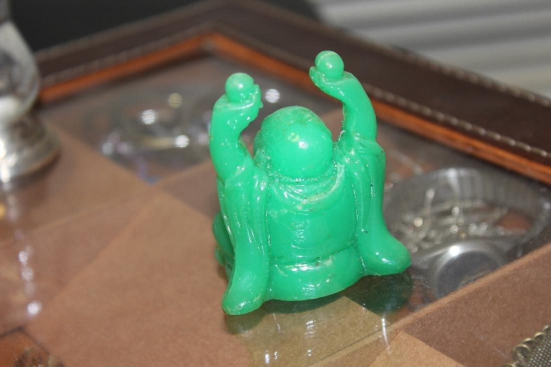 A Green Plastic Buddha - 2
