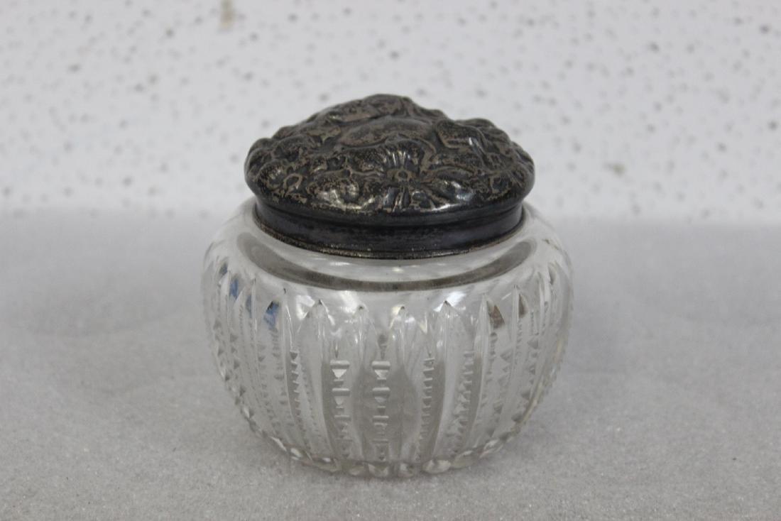 A Sterling Silver Art Nuveau Jar