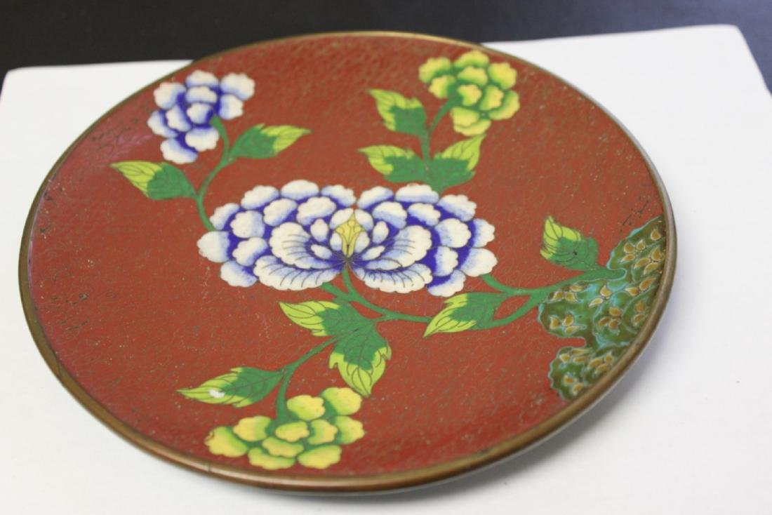 A Chinese Cloisonne Plate