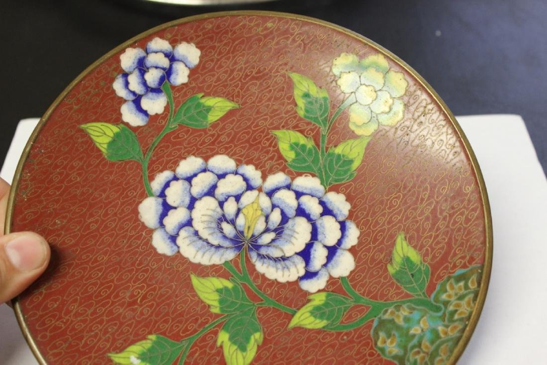 A Chinese Cloisonne Plate - 2