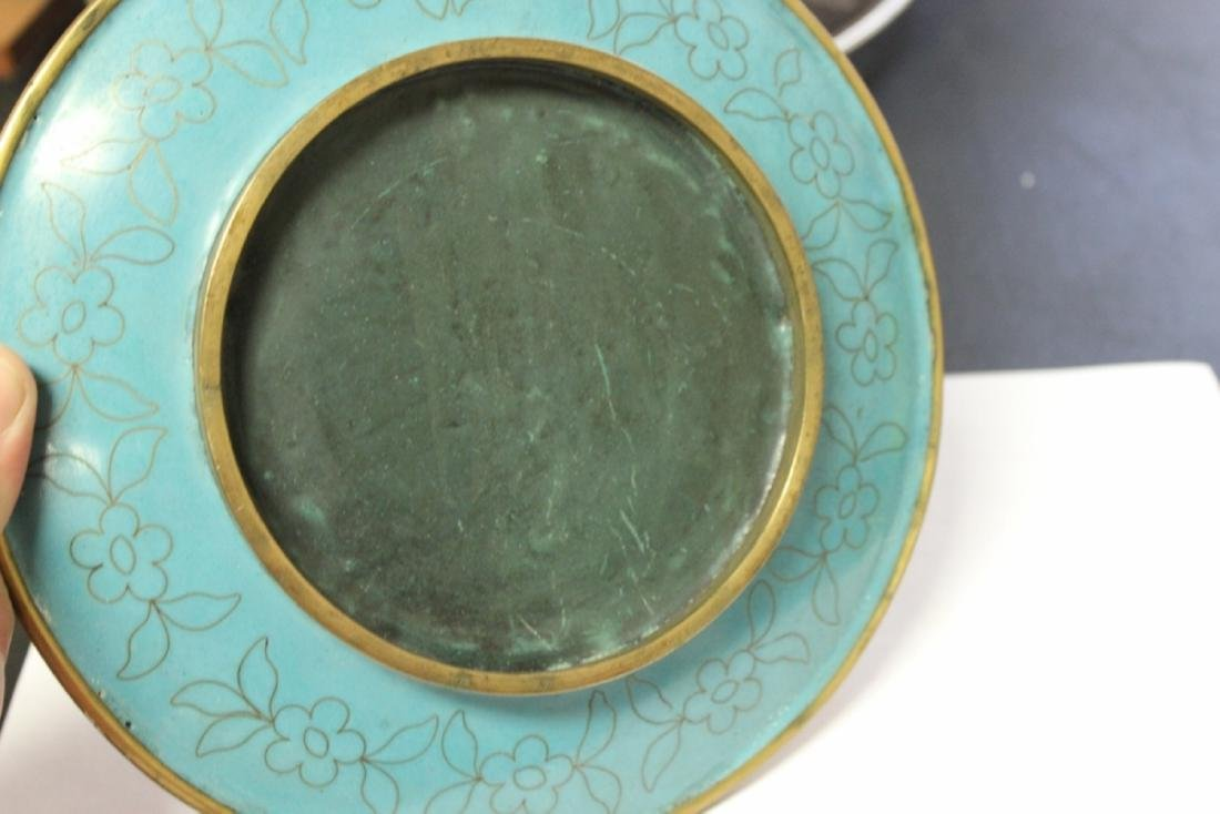 A Chinese Cloisonne Plate - 4
