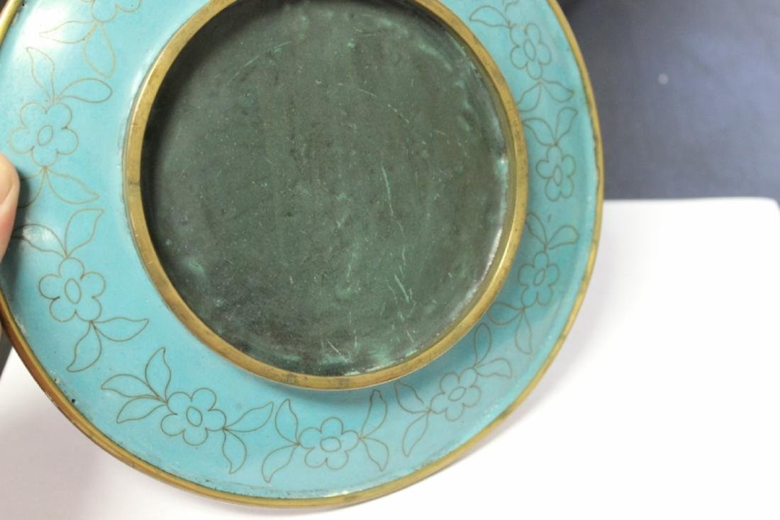 A Chinese Cloisonne Plate - 6