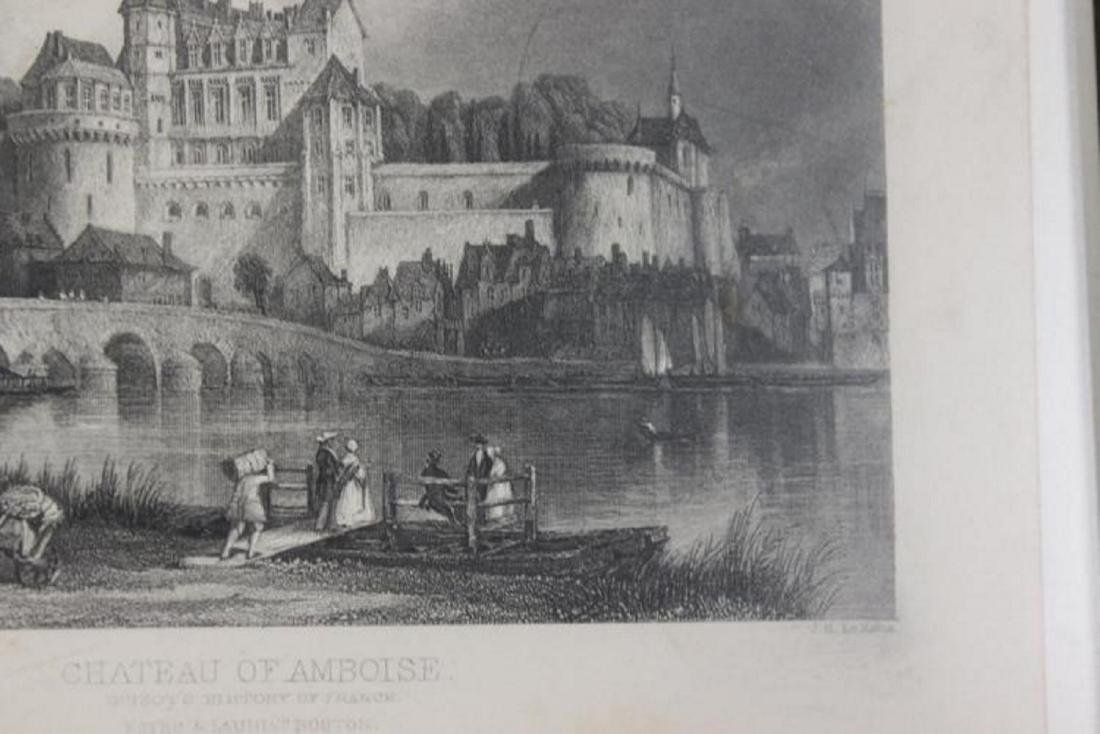 1870 Steel Engraving of Chateau of Amboise - 4