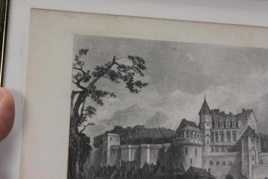 1870 Steel Engraving of Chateau of Amboise - 5