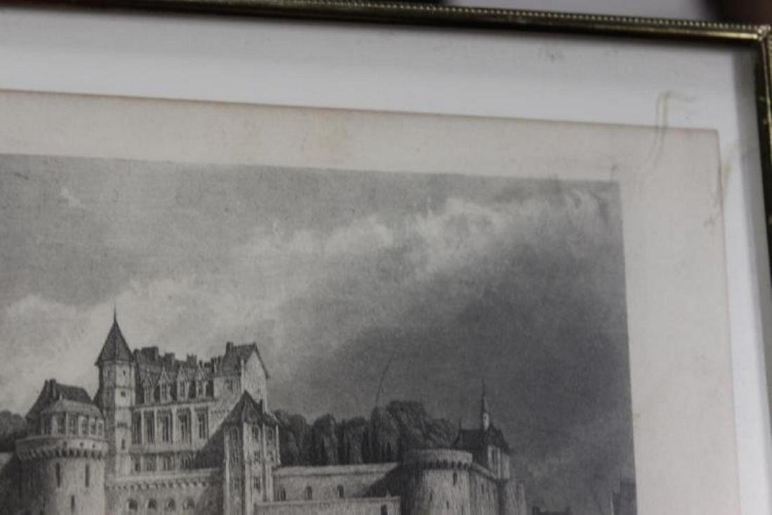 1870 Steel Engraving of Chateau of Amboise - 6