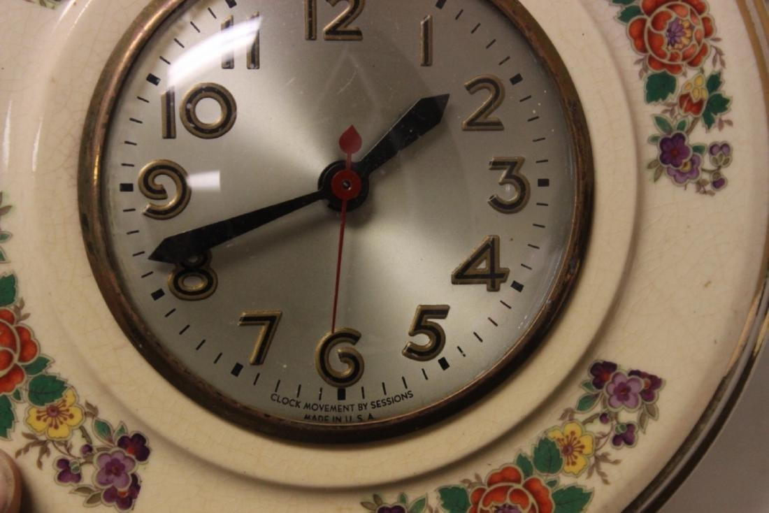 An Electric Ceramic Wall Clock - 4