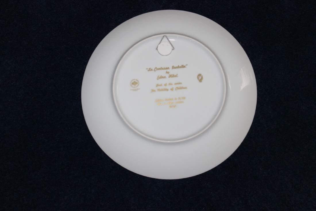 Edna Hibel Collectors Plate - La Contessa Isabella - 2