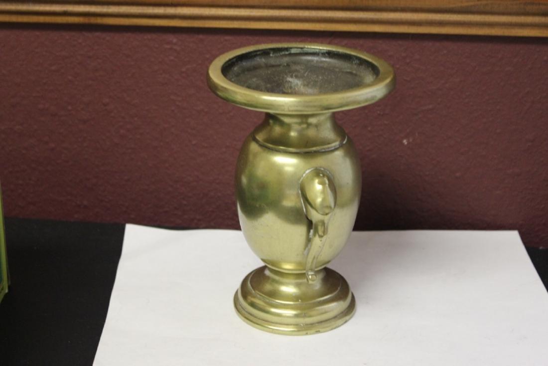 A Heavy Elephant Handle Vase or Incense Burner - 4