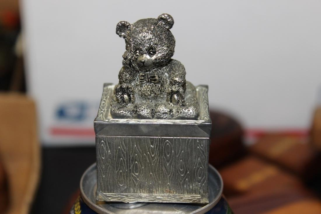 A Nicely Carved Metal Small Trinket Box