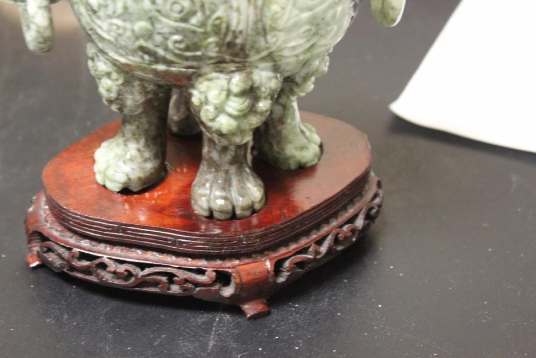 A Chinese Very Well Carved Jade Urn