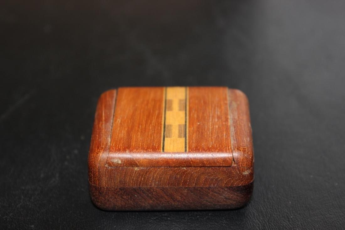 An Inlay Sliding Wood Box - 3