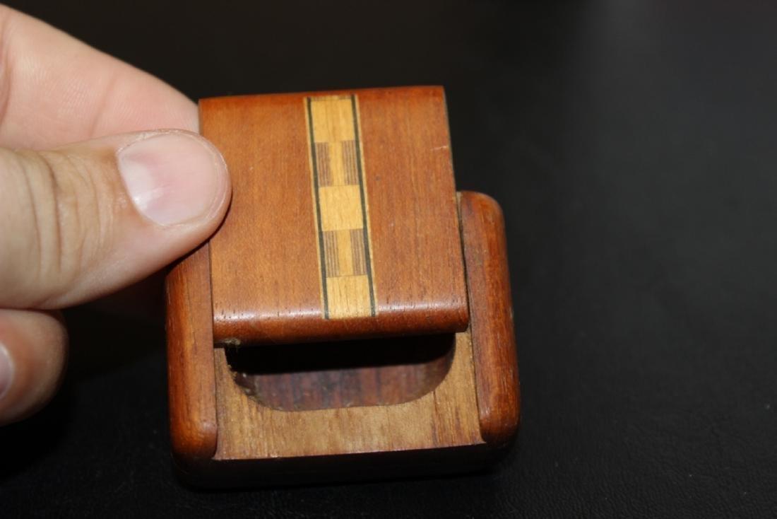 An Inlay Sliding Wood Box - 4