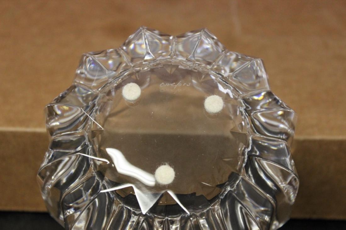 A Boxed Crystal Orrefors Bowl - Fleur Pattern - 4