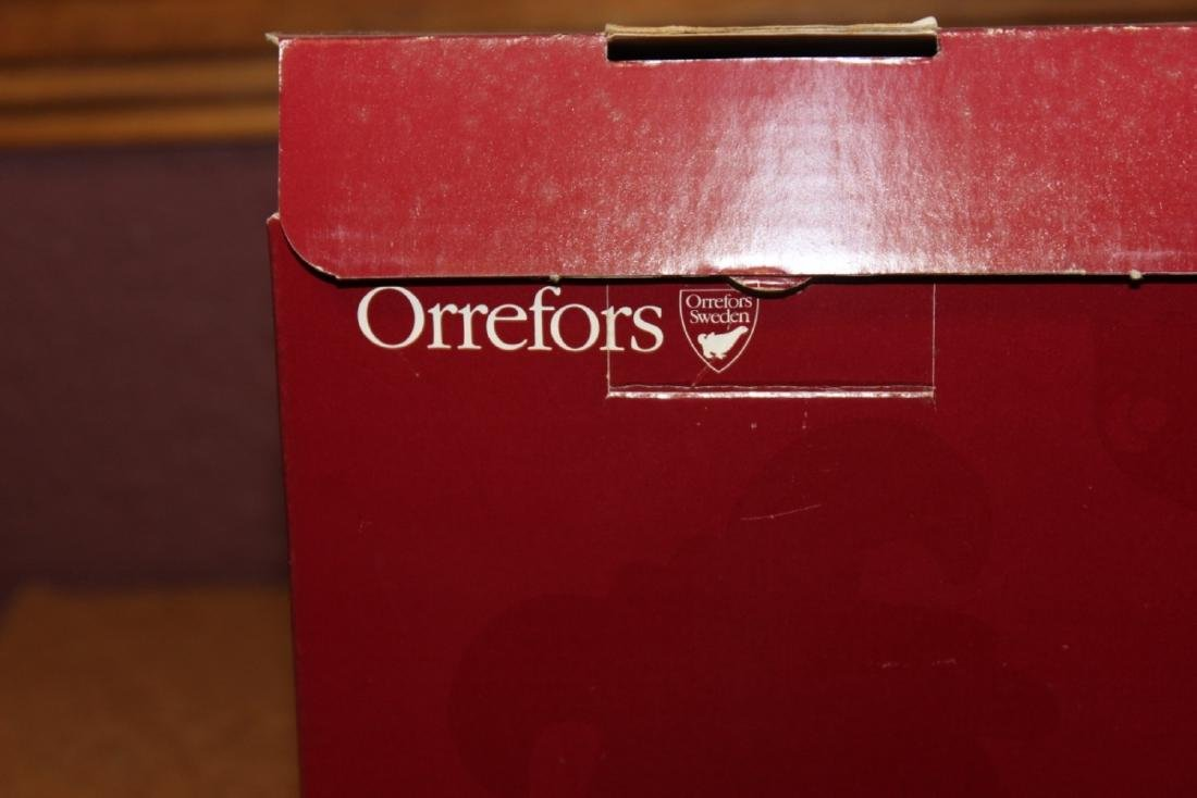 A Boxed Crystal Orrefors Bowl - Fleur Pattern - 8