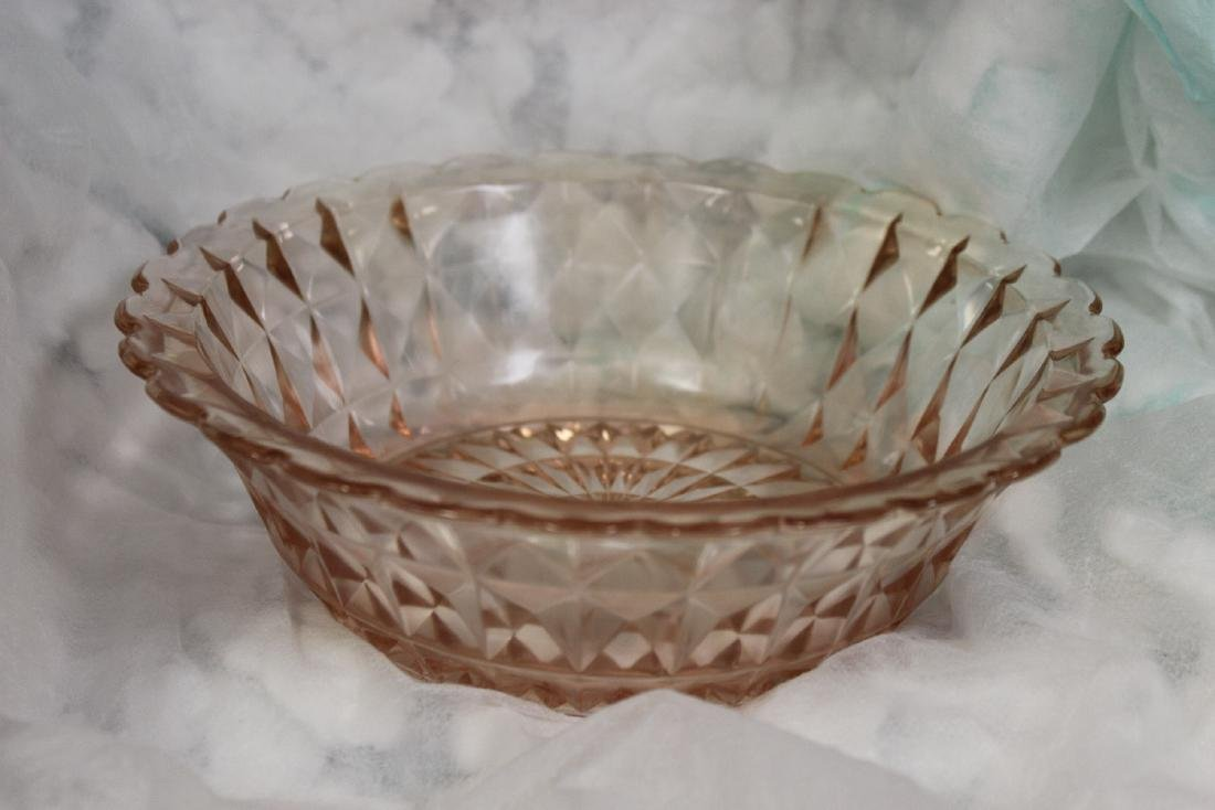A Fostoria Pink Depression Glass Bowl
